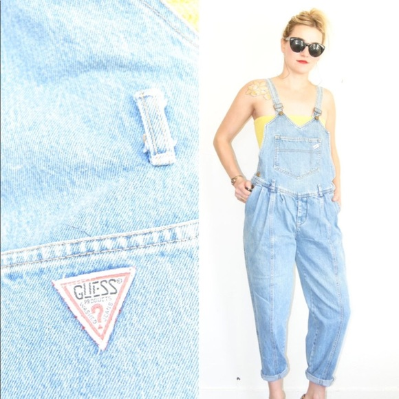 2e75f50ba55 Guess Denim - SALE TODAY! Vintage 80 s Guess Light Jean Overalls